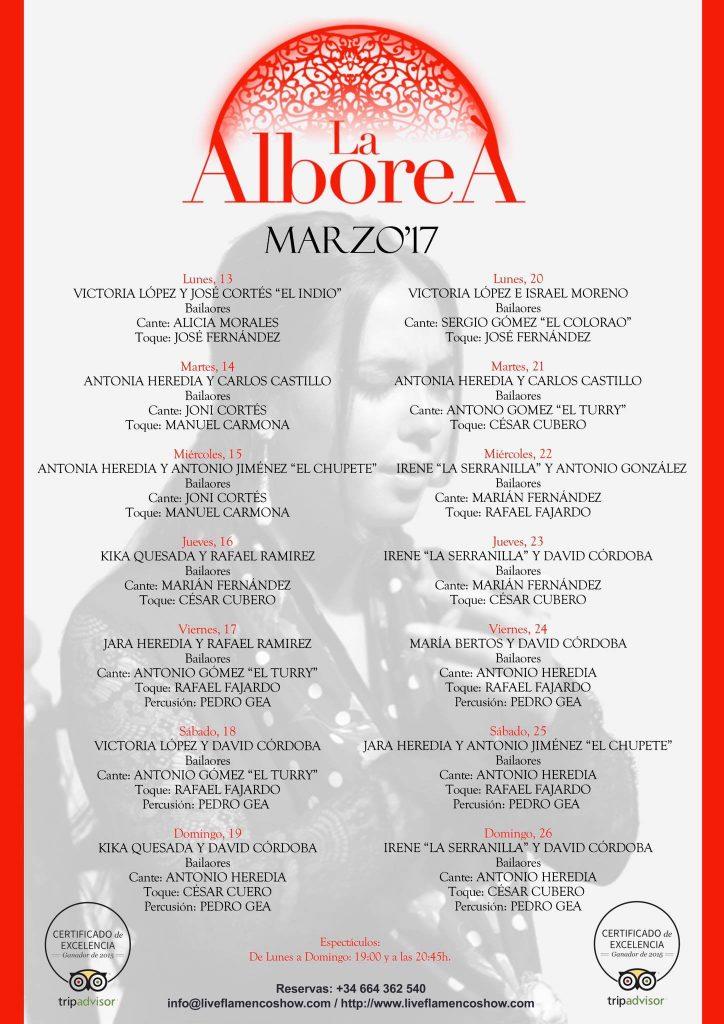 Flamenco en Granada Marzo 2017