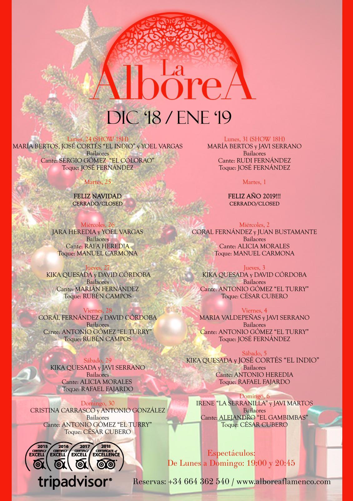 flamenco navidad 2018 programación